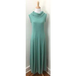 Vintage 1950s Cowl Neck Knit Maxi Dress